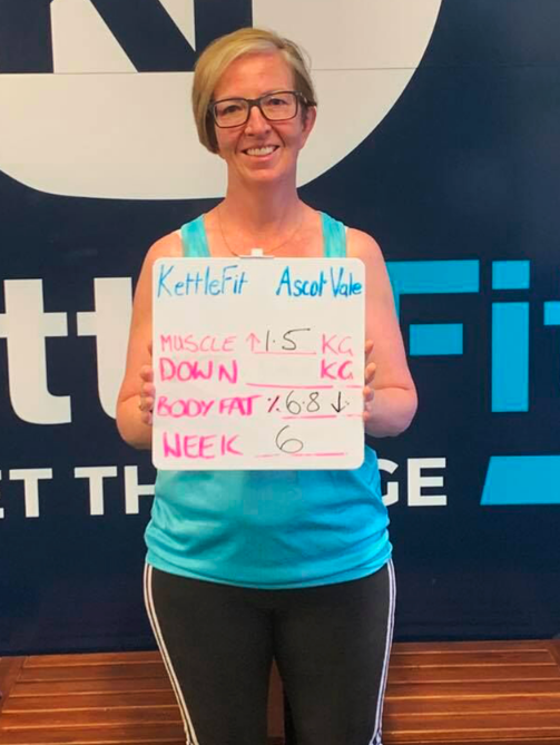 Lisa training results at the KettleFit gym